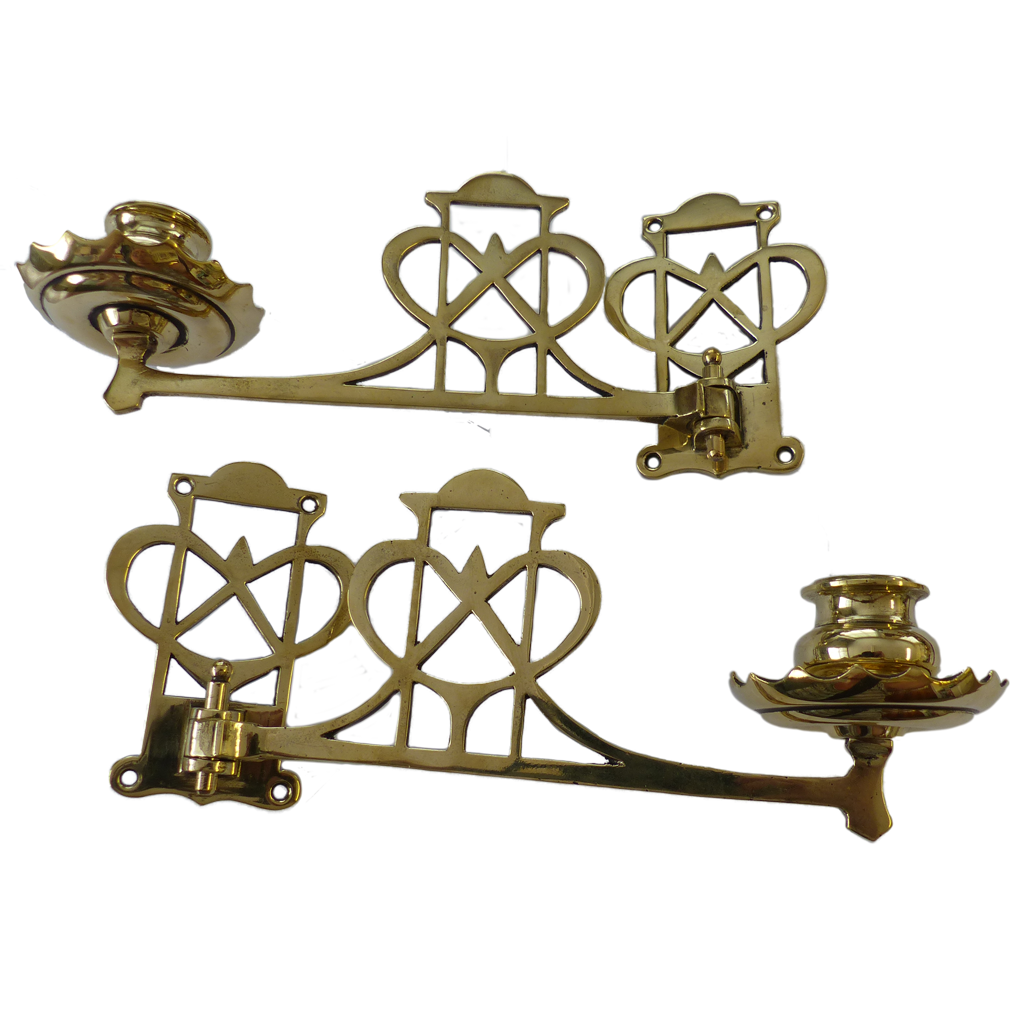reputable site 37277 d3198 Sconces - Antique Brass Sweetheart Piano Candle Sconces